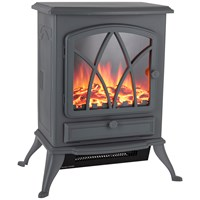 Warmlite  Stirling Electric Fire Stove Grey - 2Kw