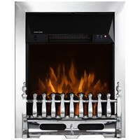 Warmlite  Whitby Chrome Electric Fire Inset with Remote Control  - 2Kw