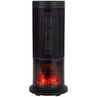 Black + Decker  Ceramic Tower Heater with Flame Effect - 1.8kw