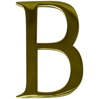 "Max6mum  3"" B Decorative Door Letter - Polished Brass"