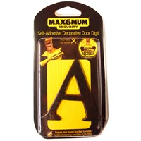 "Max6mum  3"" A Decorative Door Letter - Black"
