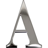"Max6mum  3"" A Decorative Door Letter - Stainless Steel"