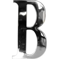 "Max6mum  3"" B Decorative Door Letter - Stainless Steel"