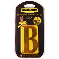 "Max6mum  3"" B Decorative Door Letter - Gold"