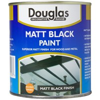 Douglas Decorative Range Matt Black Paint - 500ml