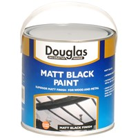 Douglas Decorative Range Matt Black Paint - 2.5 Litre