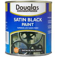 Douglas Decorative Range Satin Black Paint - 250ml