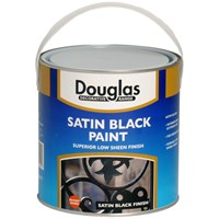 Douglas Decorative Range Satin Black Paint - 2.5 Litre