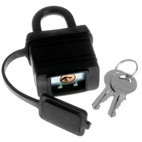 Tessi  Thermoplastic Covered Padlock - 40mm
