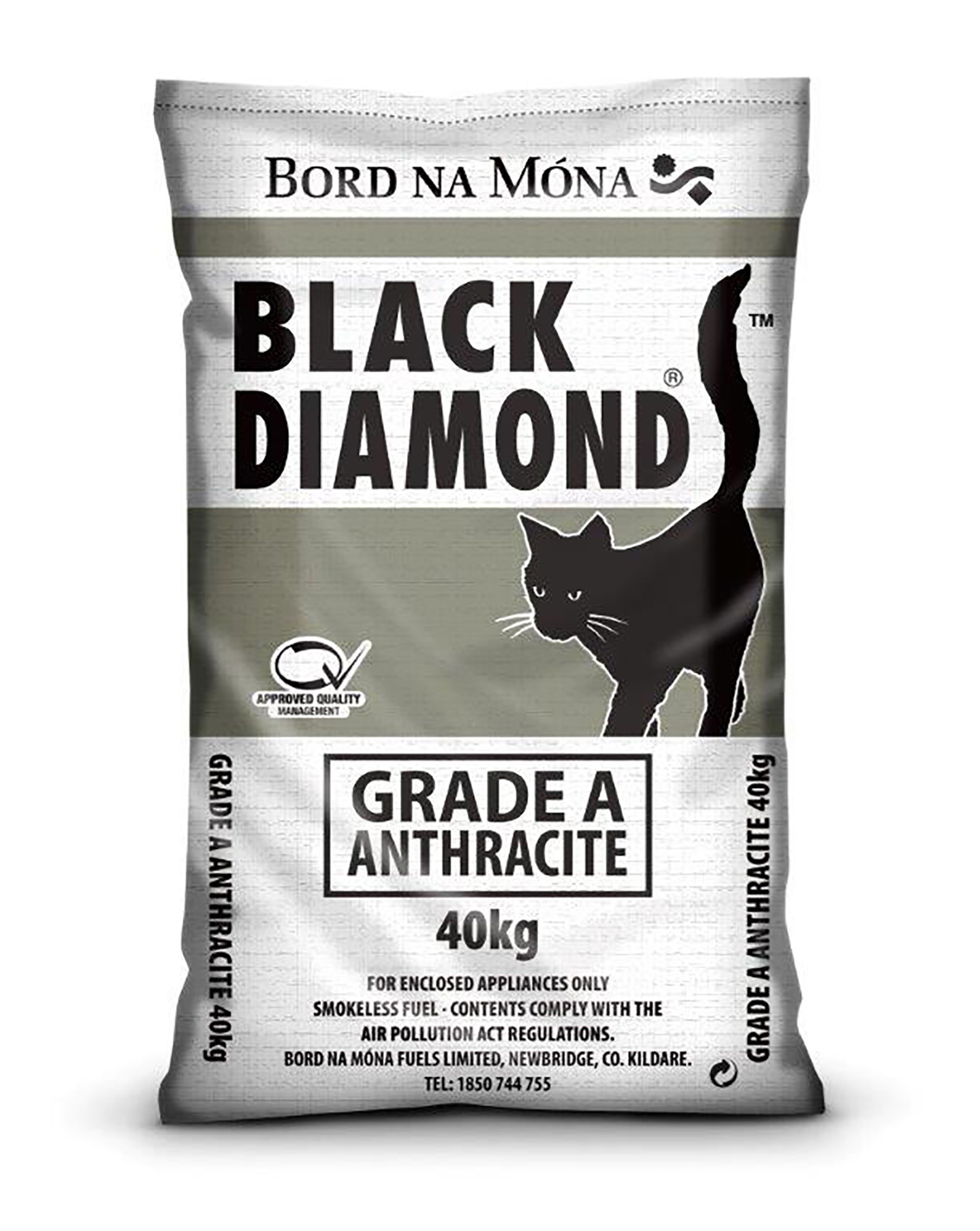 Bord na Móna Black Diamond Grade A Anthracite Coal - 40kg