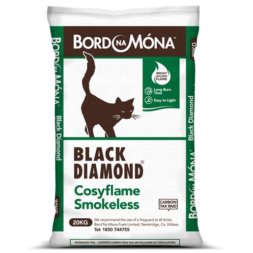 Bord na Móna Black Diamond Cosyflame Smokeless Coal - 20kg