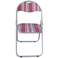 Euroactive  Folding Chair - Red Striped
