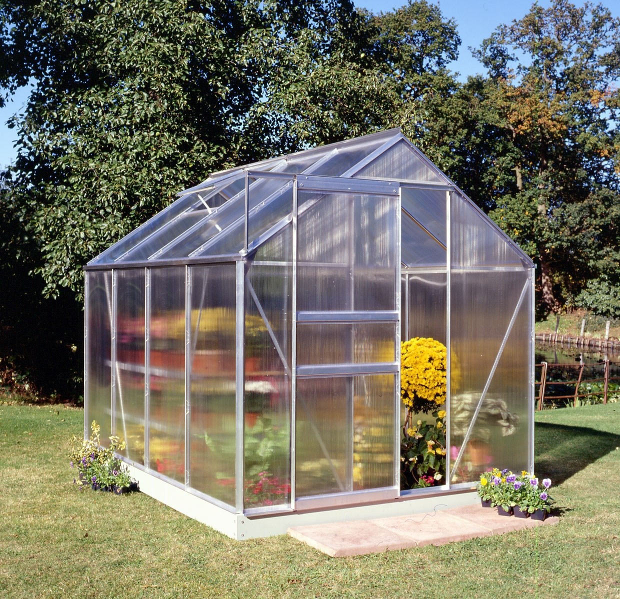 Courtyard  Polycarb Greenhouse - 8 x 6ft
