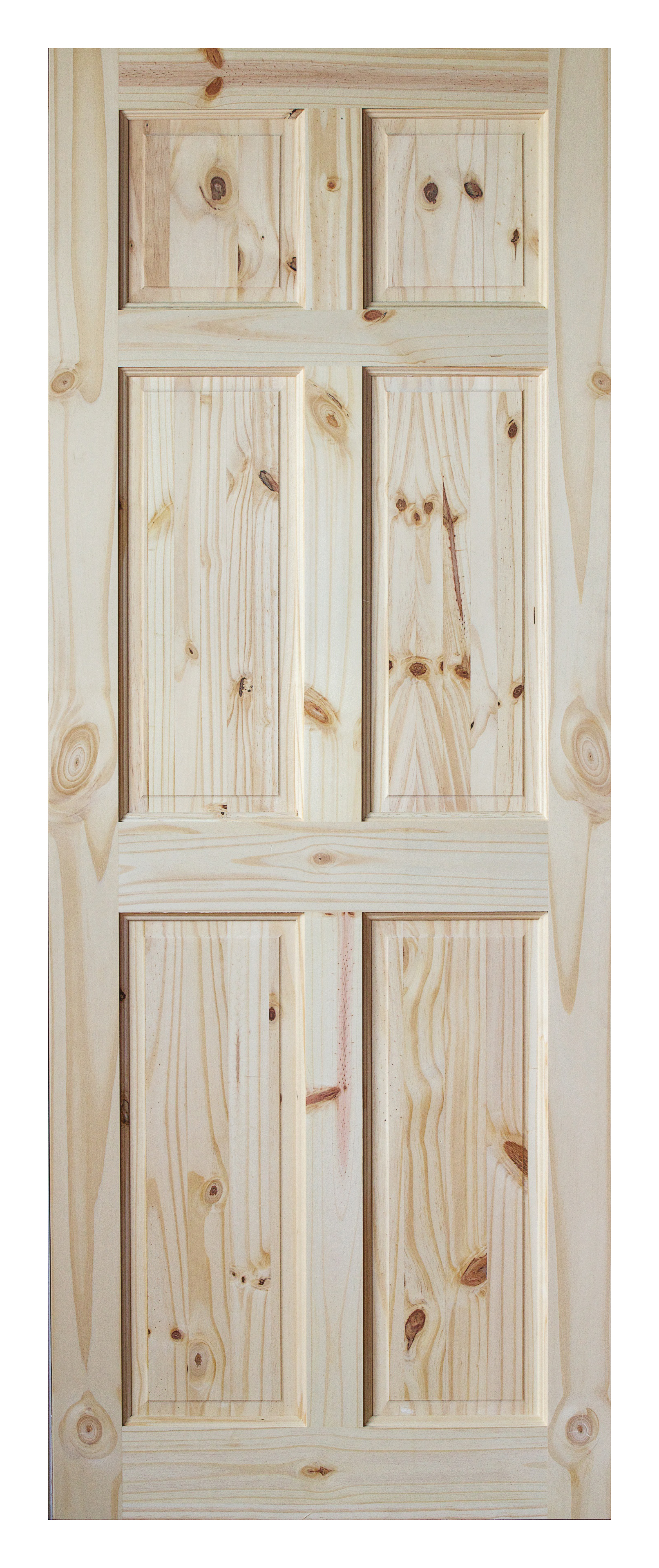 InDoors Berkley 6 Panel Interior Pine Door   Unfinished
