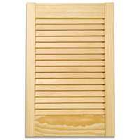 Applications  Pine Louvre Kitchen Cabinet Door - 72in
