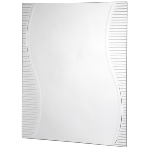 Tema Sheridan Rectangular Mirror with Etched Design - 80 x 60cm ...