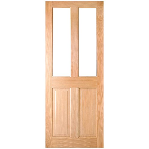 InDoors  Addison 4 Panel Unglazed Interior Oak Door - Pre-finished