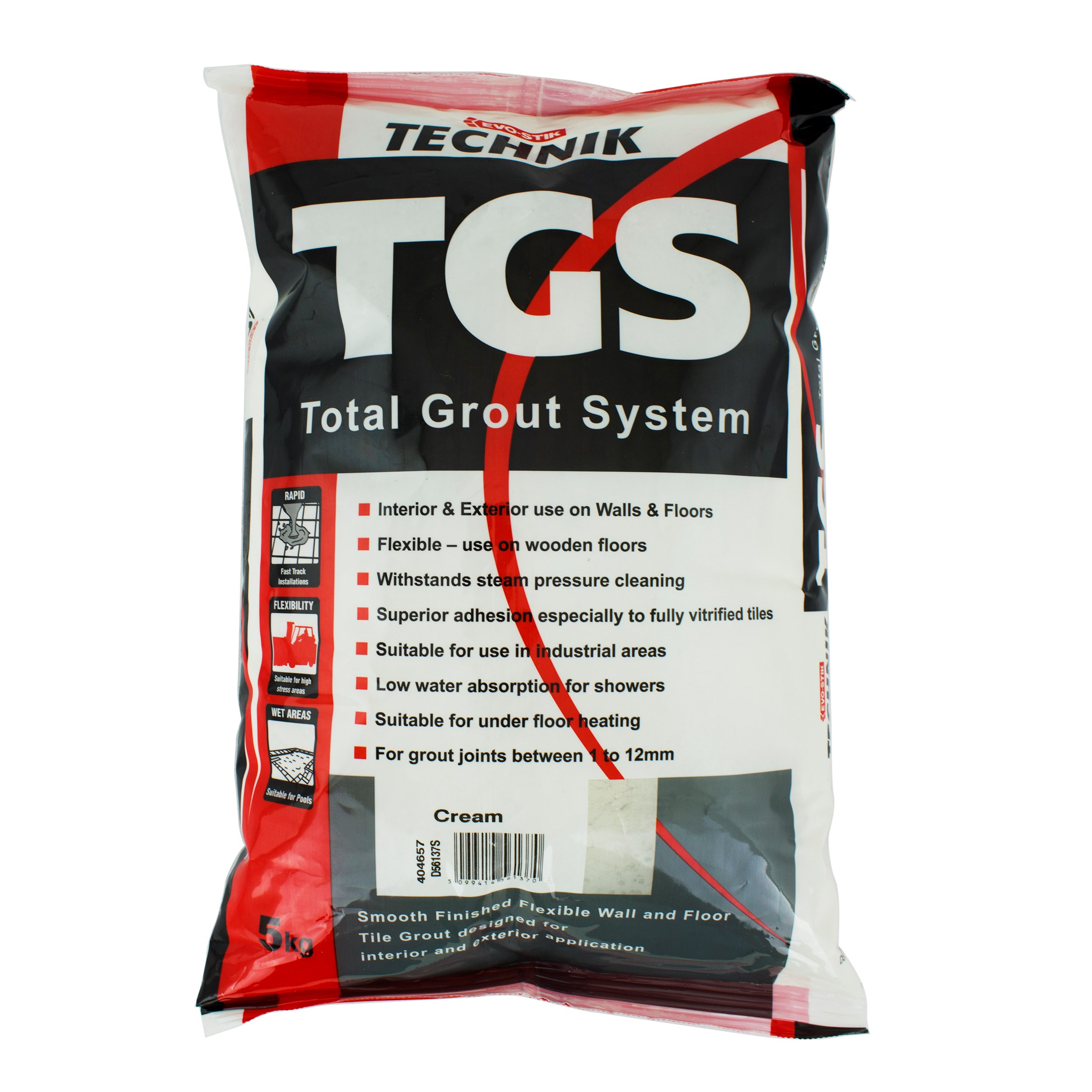 Evo stik tgs total grout system 5kg cream tile adhesives evo stik technik tgs total grout system 5kg cream dailygadgetfo Gallery