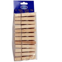 Varian  Clothes Pegs 24 Pack - Wooden