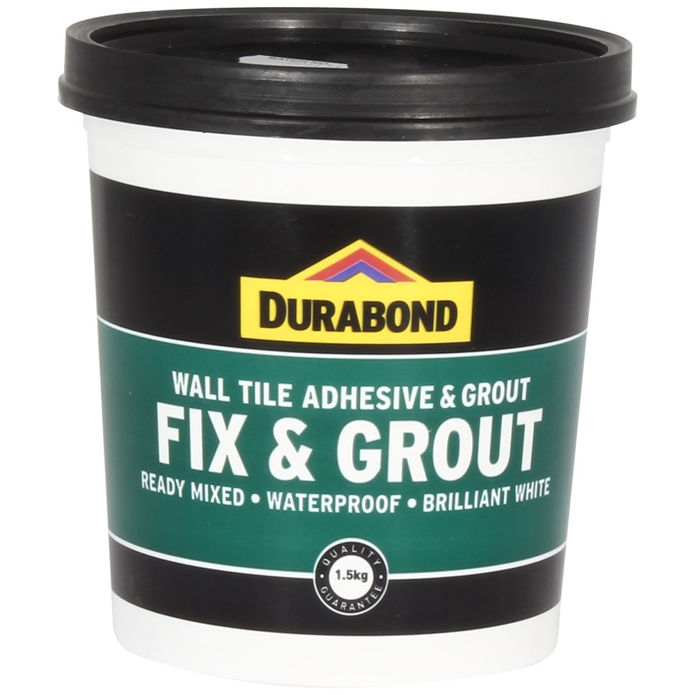 Bathroom Tile Adhesive And Grout: Durabond Waterproof Fix & Grout - 1.5 Kg