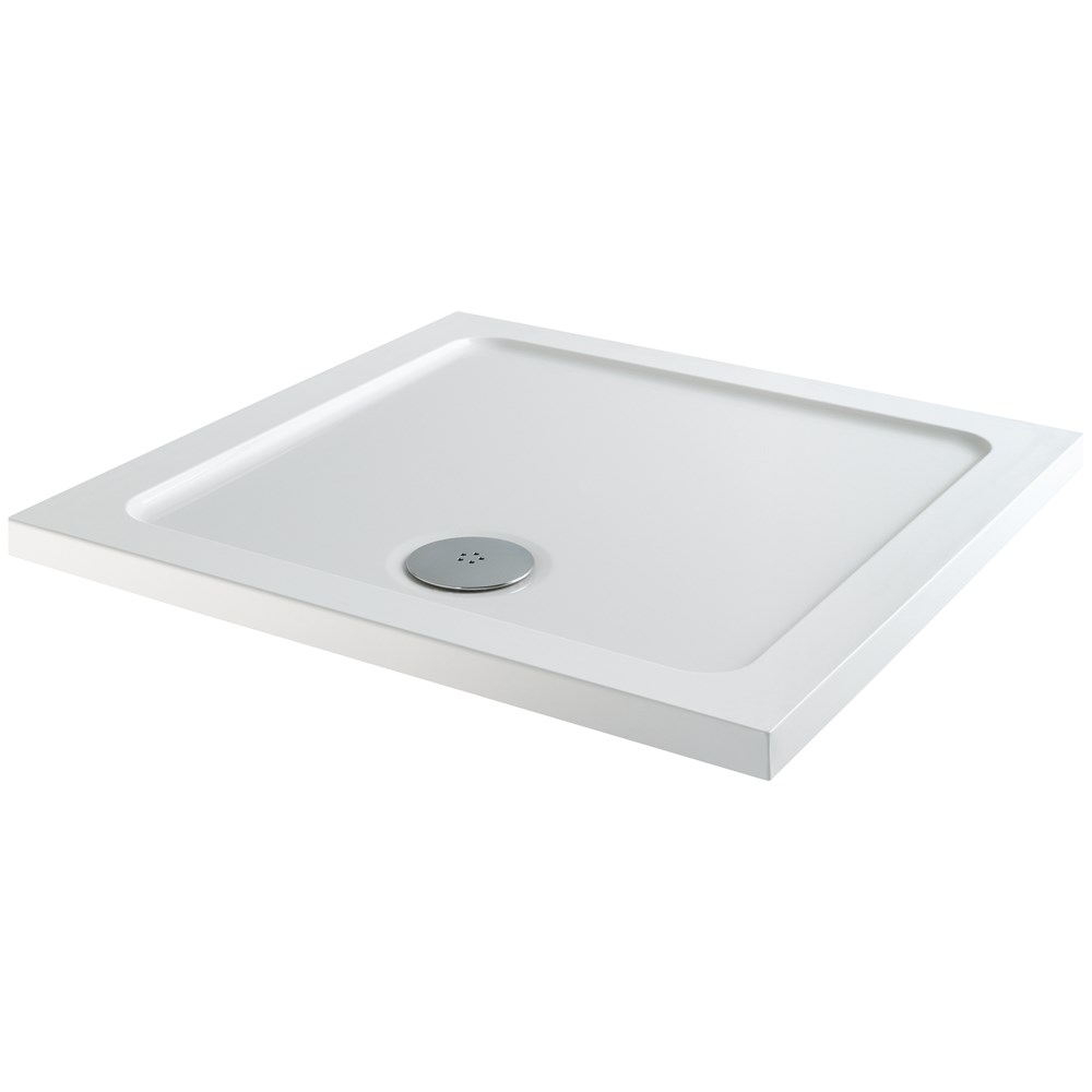 Flair Square Slimline Shower Tray - 900 x 900mm | Shower Trays ...
