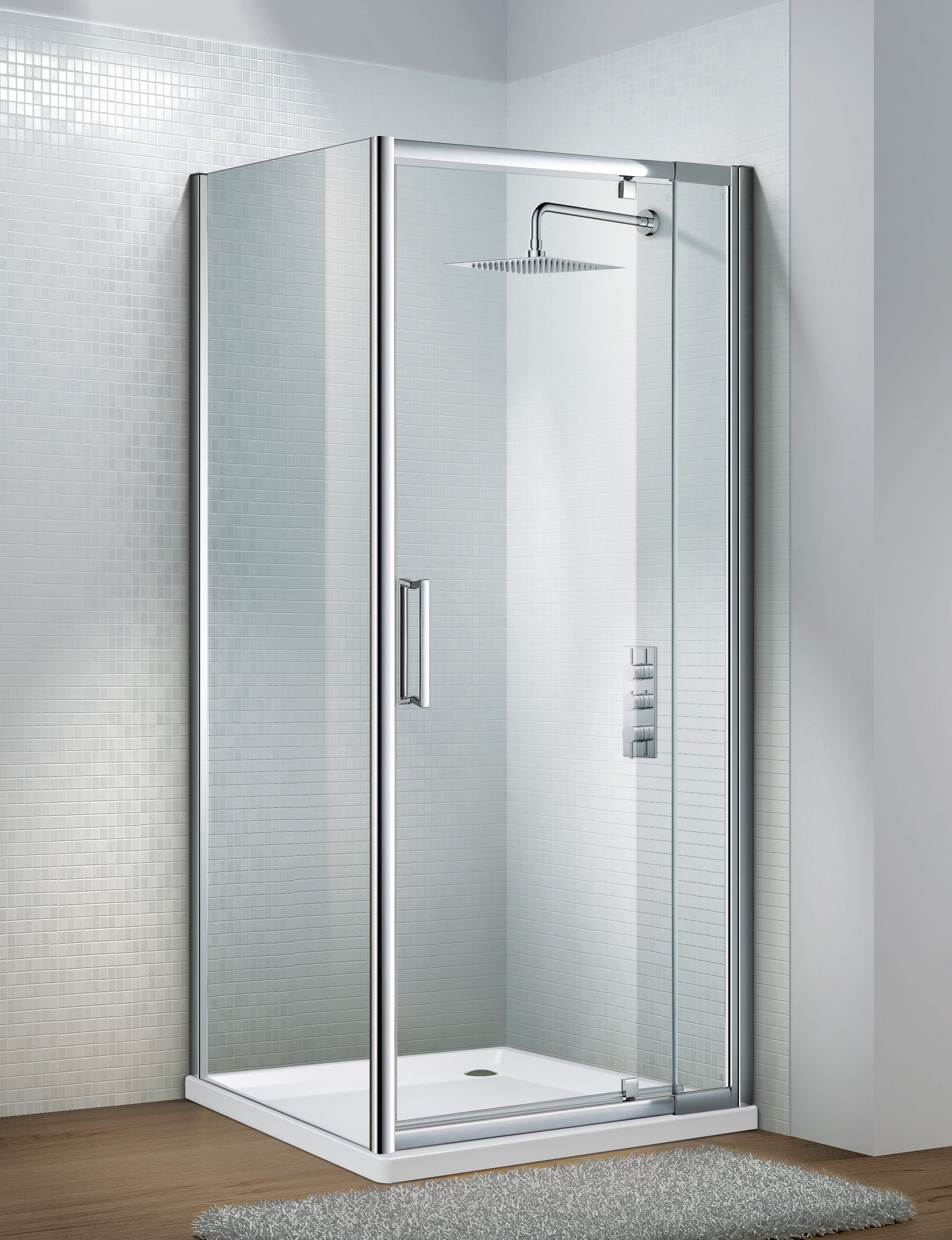 Flair Slimline Capella Frameless Shower Enclosure Side Panel  sc 1 st  Topline & Flair Frameless Shower Enclosure Side Panel | Shower Doors | Topline.ie