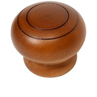 Phoenix  Beech Knob Double Indent -Walnut Lacquer