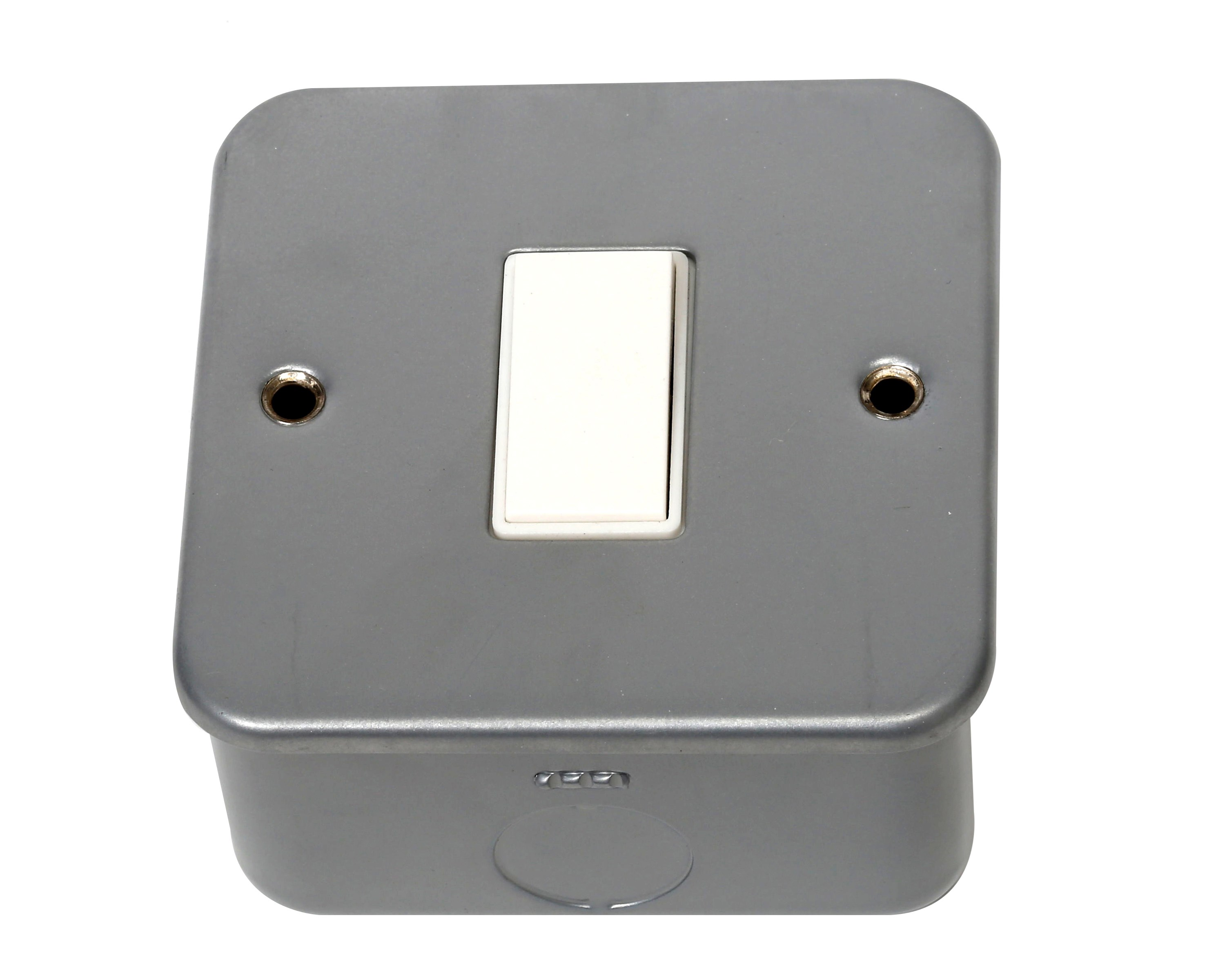 Phoenix  1 Gang 2 Way Metal Clad Plate Switch