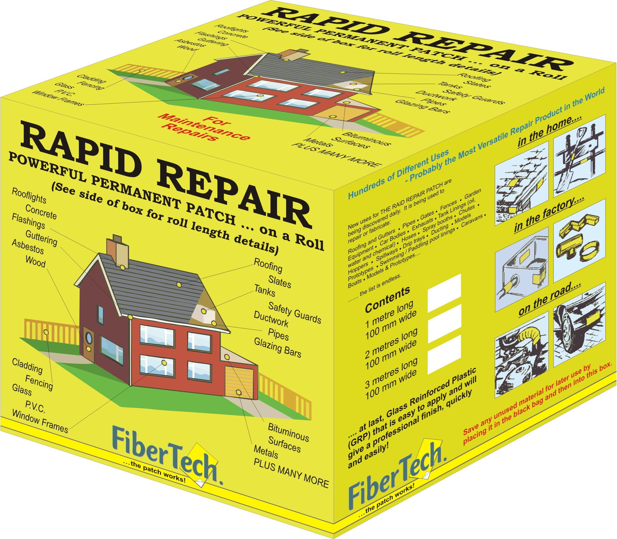 Fiber Tech  Rapid Repair Roll - 100mm x 2m