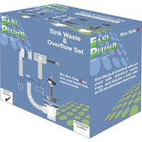 Easi Plumb  PVC Sink Waste Set with Round Overflow - 1.5in