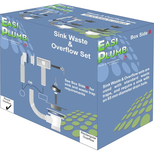 Easi Plumb PVC Sink Waste Set with Round Overflow - 1.5in | Kitchen ...