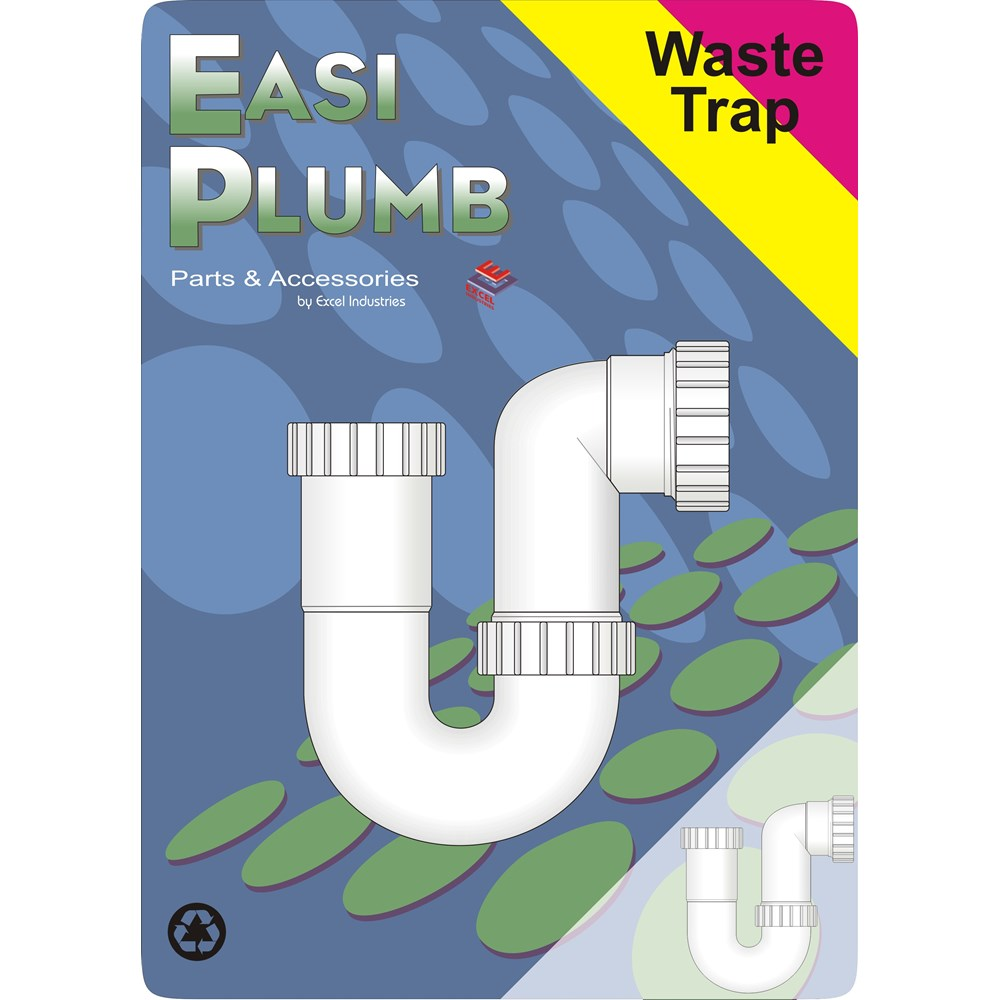 Easi Plumb P Trap With 1 5in Water Seal Plastic Fittings