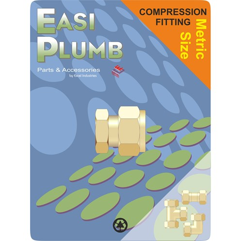 Easi Plumb  651 Metric Brass Compression Stop End Pipe Fitting
