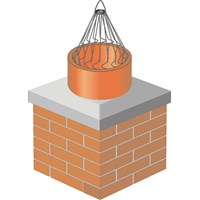 Clean Sweep  Chimney Crow Guard - Galvanised