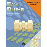 Easi Plumb  310 Brass Compression Straight Coupling Pipe Fitting