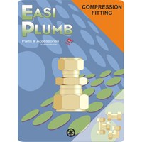 Easi Plumb  310 Brass Compression Straight Reducing Coupling Pipe Fitting