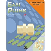 Easi Plumb  311 M.I. x Brass Compression Straight Coupling Pipe Fitting
