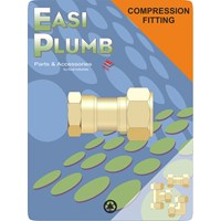Easi Plumb  312 F.I. x Brass Compression Straight Coupling Pipe Fitting