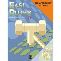 Easi Plumb  171 Brass Compression Coupling & Drain Off Pipe Fitting