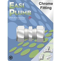 Easi Plumb  310 Chrome Plated Compression Straight Coupling Pipe Fitting