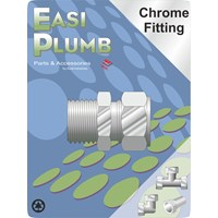 Easi Plumb  311 M.I. x Chrome Plated Compression Straight Coupling Pipe Fitting