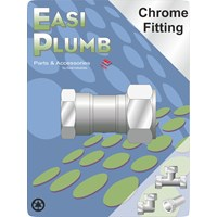Easi Plumb  312 F.I. x Chrome Plated Compression Straight Coupling Pipe Fitting