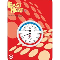 Easi Heat  1/4in Back Inlet Pressure & Temperature Gauge