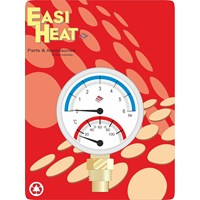 Easi Heat  1/4in Bottom Inlet Pressure & Temperature Gauge