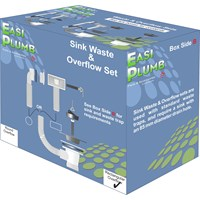 Easi Plumb  PVC Sink Waste Set with Rectangular Overflow - 1.5in