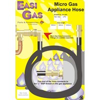 Easi Gas  Micro Cooker Hose for Natural Gas - 3' x 1/2in