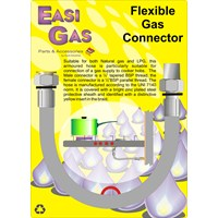 Easi Gas  Flexible Gas Connector - 1/2in M x 1/2in F