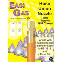 Easi Gas  Male Hose Union Nozzle