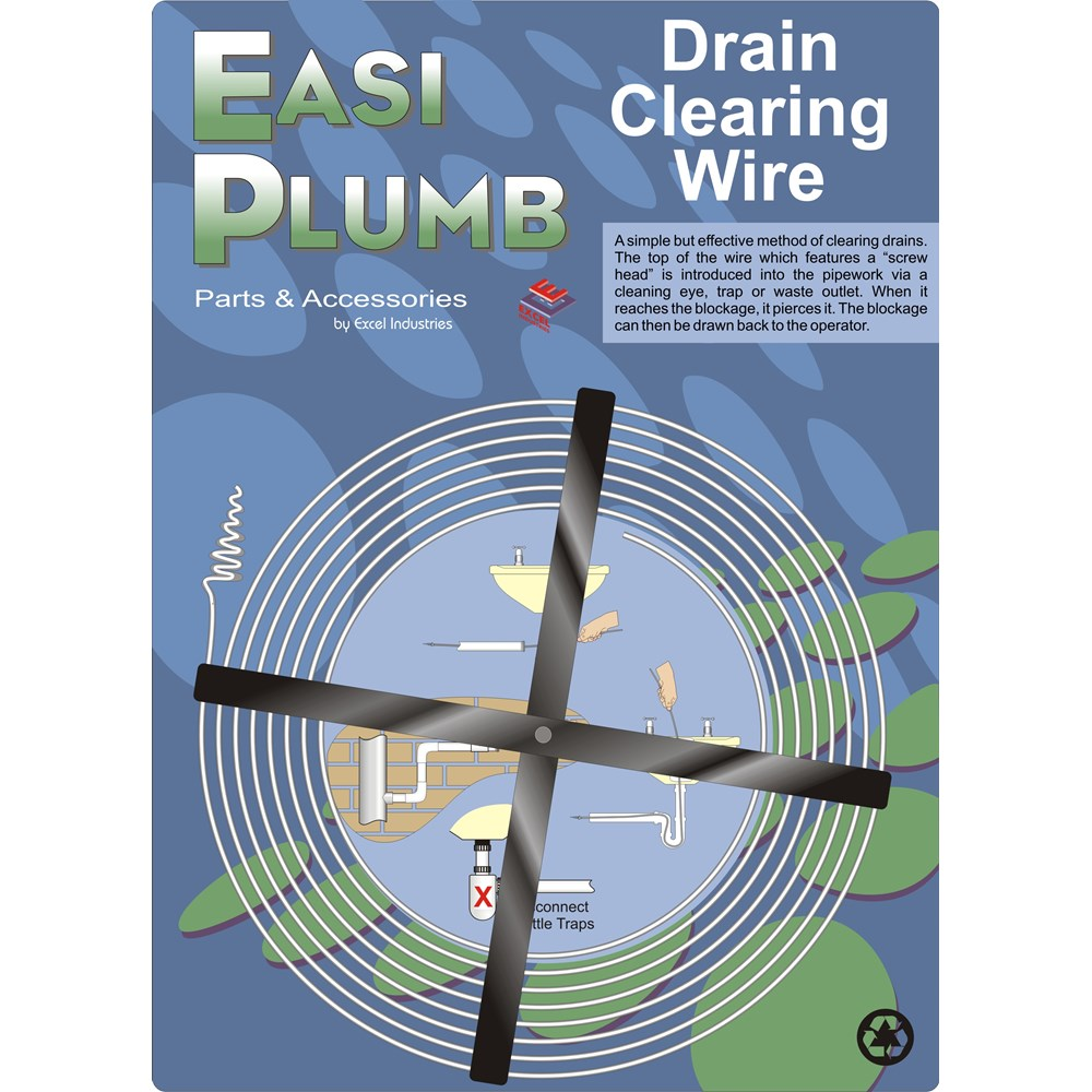 Easi Plumb Drain Clearing Wire - 15ft   Cleaning Chemicals & Drain ...