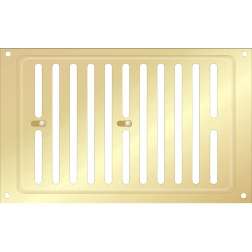 Airstream  Adjustable Gold Aluminium Air Vent - 9 x 6in